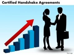 PowerPoint Theme Success Certified Handshake Ppt Theme