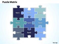 PowerPoint Theme Success Rectangular Jigsaw Puzzle Matrix Ppt Themes