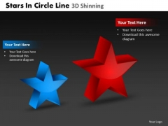 PowerPoint Theme Success Stars In Circle Ppt Design