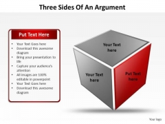 PowerPoint Theme Success Three Sides Of An Argument Ppt Presentation