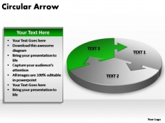 PowerPoint Theme Teamwork Circular Arrow Ppt Themes