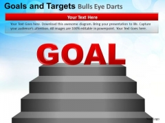 PowerPoint Theme Teamwork Goals And Targets Ppt Design