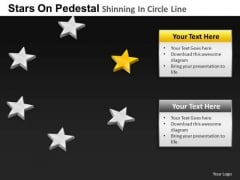 PowerPoint Theme Teamwork Pedestal Shinning Ppt Designs
