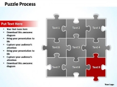 PowerPoint Theme Teamwork Puzzle Ppt Slide