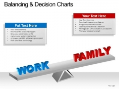 PowerPoint Theme Work Family Balancing Decision Ppt Templates