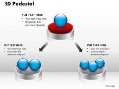 PowerPoint Themes Business 3d Pedestal Ppt Templates