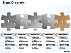 PowerPoint Themes Business Five Improvement Steps Puzzle Ppt Process