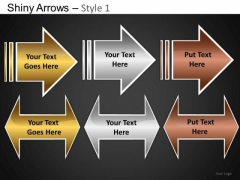 PowerPoint Themes Business Growth Shiny Arrows Ppt Design