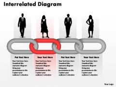 PowerPoint Themes Business Interrelated Concepts Chain Diagram Ppt Template