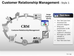 PowerPoint Themes Business Leadership Customer Relationship Management Ppt Slides