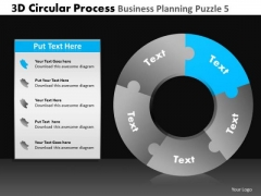 PowerPoint Themes Business Strategy 3d Circle Chart Process Ppt Template