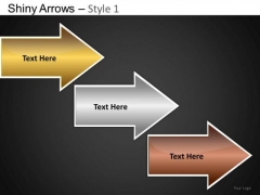 PowerPoint Themes Business Strategy Shiny Arrows Ppt Templates