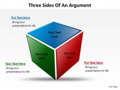 PowerPoint Themes Business Three Sides Of An Argument Ppt Templates