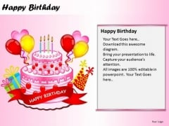 PowerPoint Themes Cake Happy Birthday Ppt Process