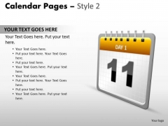 PowerPoint Themes Calendar 11 May Leadership Ppt Design Slides