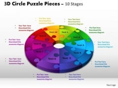 PowerPoint Themes Chart Circle Puzzle Ppt Process