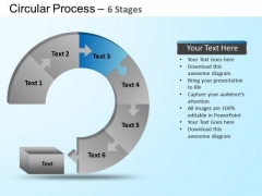 PowerPoint Themes Chart Circular Ppt Themes