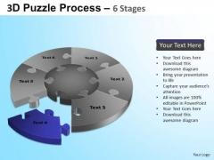 PowerPoint Themes Chart Jigsaw Pie Chart Ppt Designs