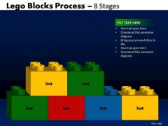 PowerPoint Themes Chart Lego Blocks Ppt Template