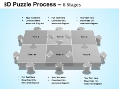 PowerPoint Themes Chart Puzzle Process Ppt Backgrounds