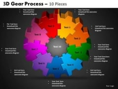 PowerPoint Themes Circle Process Gear Process Ppt Process