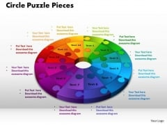 PowerPoint Themes Circle Puzzle Marketing Ppt Templates