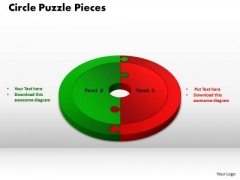 PowerPoint Themes Circle Puzzle Pieces Growth Ppt Templates