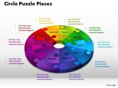 PowerPoint Themes Circle Puzzle Pieces Ppt Slides
