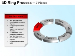 PowerPoint Themes Circular Chart Ring Process Ppt Slides