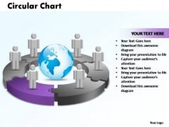 PowerPoint Themes Circular Chart With Globe Ppt Design