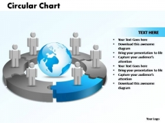 PowerPoint Themes Circular Chart With Globe Ppt Designs