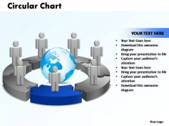 PowerPoint Themes Circular Chart With Globe Ppt Presentation Designs