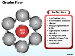 PowerPoint Themes Circular Flow Chart Ppt Layouts