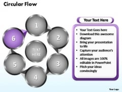 PowerPoint Themes Circular Flow Chart Ppt Slide
