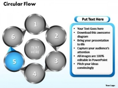 PowerPoint Themes Circular Flow Chart Ppt Slides