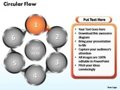 PowerPoint Themes Circular Flow Chart Ppt Template