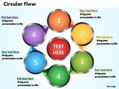 PowerPoint Themes Circular Flow Chart Ppt Templates