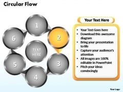 PowerPoint Themes Circular Flow Chart Ppt Theme