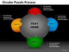 PowerPoint Themes Circular Puzzle Business Ppt Designs