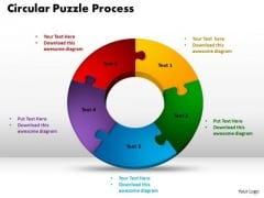PowerPoint Themes Circular Puzzle Process Sales Ppt Slides