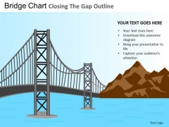 PowerPoint Themes Closing Gap Business Success Ppt Templates