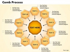 PowerPoint Themes Comb Process Business Ppt Slides
