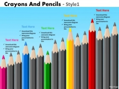 PowerPoint Themes Corporate Education Crayons And Pencils Ppt Design
