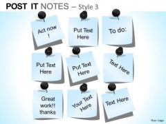 PowerPoint Themes Corporate Education Post It Notes Ppt Template