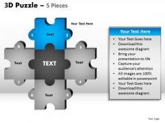 PowerPoint Themes Diagram Puzzle Pieces Ppt Slide