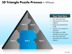 PowerPoint Themes Diagram Triangle Puzzle Ppt Backgrounds