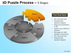 PowerPoint Themes Download Jigsaw Pie Chart Ppt Design Slides