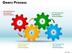 PowerPoint Themes Gears Process Marketing Ppt Templates