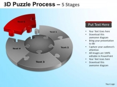 PowerPoint Themes Global Jigsaw Pie Chart Ppt Backgrounds