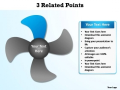 PowerPoint Themes Graphic Related Points Ppt Template